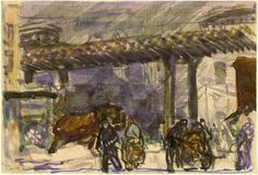 """Brooklyn (George Bellows, """"A Winter Day - Under the Elevated near Brooklyn Bridge"""") #Oscars #Oscarsinthemuseum Natl Gallery of Art (@ngadc) 