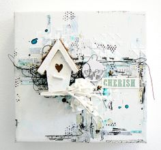 CHERISH mixed-media canvas- Stéphanie PAPIN 13@rts collections - Guest designer