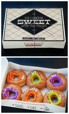 Sink your teeth into these Halloween decorated Donuts