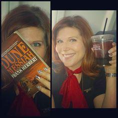 #longturn in #SLC better grab an #icedcoffee and a good book #coffeethirty #flightattendantlife #Dune #readabook #whatimreadingnow by emnara_jayne