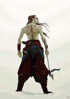Adalrik the warrior for the Character Design Challenge.Based on the wonderful model Olivier Skógrson ! Thank you again *v*