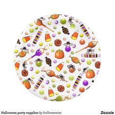 Halloween party supplies paper plate  sc 1 st  Pinterest & Halloween Candy party paper plates | Halloween candy Candy and ...