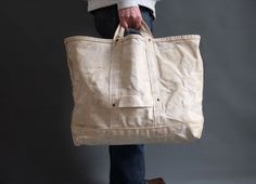 Vintage Bell System Heavy Duty Canvas work bag lineman by abrshop