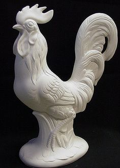 ceramic rooster molds | Rooster,Hen,Chickins,Ceramic Bisque Ready to Paint Ceramics