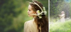 Amazing Hair, Braided crown, Deer, Fantasy photography, Forest Photos,  Styled by: Wish Photography Hair by: Hair Design by Ericka Dowsett Make up: Boho Beauty Studio Photography: Brianna Siddoway Photography