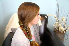 Yarn Fishtail Braid | Temporary Color Highlights | Cute Girls Hairstyles