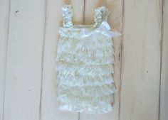 The petti lace romper is perfect for photos, birthday parties and so much more. This romper is stretchy and lace. It will look adorable on