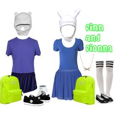 """""""finn and fionna outfits #adventure time"""
