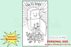 Items similar to Cute Printable Personal Size COLORING Page - When I'm Hungry Dashboard - Printable Planner Dashboard - Printable Planner Divider on Etsy Cute Planner, Happy Planner, Printable Planner, Printables, Coloring Pages, Colouring, Planner Dashboard, Planner Inserts, More Cute