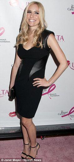 Kristin Cavalleri in a black jersey & leather #Rubinsinger- Los Angeles