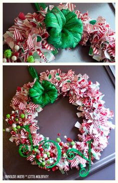 a whole lotta MALARKEY and a few other things: Christmas Rag Wreath