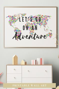 Looking for a travel spotty wall art prints to go in your home? This colourful adventure quotes art is the perfect addition to your bedroom decor. It is an instant download so you can print it straight away, no having to go out to shops, no waiting times, no shipping costs! Awesome!! Click through to find more motivational and colourful quotes and styles #travelwallart #colourfulart #bedroomdecor #instantdownload #adventurequotes Motivational Wall Art, Inspirational Wall Art, Office Ideas For Work, Feminine Office Decor, Travel Wall Art, Cool Dorm Rooms, Colorful Wall Art, Office Wall Art, Adventure Quotes
