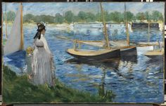 Edouard Manet (1832 - 1883) | Banks of the Seine at Argenteuil  1874 |  Oil on canvas