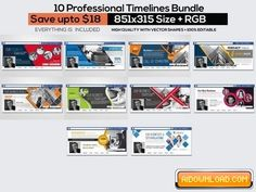 10 Facebook Timeline Cover Bundle 788024 Free Download | Free Graphic Templates, Fonts, Logos & Icons, PSD, AI
