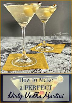 Shaken and served up with stuffed green olives. The dirty martini has to be one of the best cocktails ever, and this recipe will help you make the perfect one, every single time. Beste Cocktails, Vodka Cocktails, Cocktail Drinks, Fun Drinks, Yummy Drinks, Alcoholic Drinks, Best Vodka Drinks, Spicy Drinks, Vodka Shots