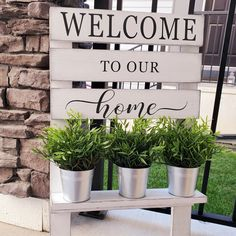 Everyone loves a good porch sign! This beautiful Welcome sign is offered with our DIY delivery, curb side pickup or across Canada Shipping! Click this image to access for purchase! Tin Buckets, Porch Signs, Own Home, Delivery, Create, Diys, Canada, Image, Beautiful