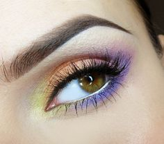 Wow - lots of colors. So pretty - but might over power a lighter eye color?