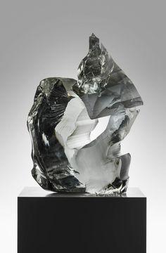 "TIMO SARPANEVA - A unique glass sculpture ""Kosketus"" (A Touch) for Iittala 1987, Finland. [h. 66, w. 44 cm] Glass Design, Design Art, New Pins, Finland, Touch, Sculpture, Unique, Sculptures, Sculpting"