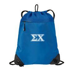 Campus Classics - New! Sigma Chi Blue Mesh Drawstring Backpack: $13.95