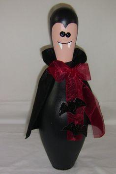 Upcycled Bowling Pin: Dracula