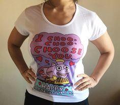 Remera Maquinita Choo choose T Shirt, Instagram, Tops, Women, Fashion, Supreme T Shirt, Moda, Tee Shirt, Fashion Styles