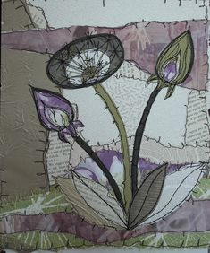 H-anne-Made : Stitched collage : Anne Brooke