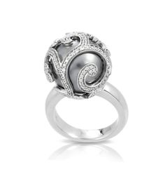 View this gorgeous Beauty Bound Grey Ring  from #belle etoile at Ancona jewelers  source:www.anconajewelers.com