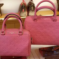 45886b390a43 Louis Vuitton Monogram Empreinte Speedy 25 and 20 Bags 2 Luxury Purses