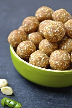 Key Lime Pie Energy Balls. Quickly whip up a batch, freeze 'em, and pop 'em whenever you need an extra energy boost!