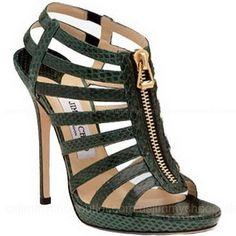 * Walking in Style * / Jimmy Choo Elaphe Snake Sandals  2013 Fashion High Heels 