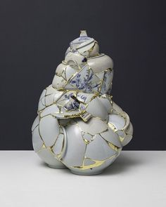 According to Korean tradition, artisans have a habit of destroying and discarding imperfect pieces. Since 2001 Korean artist Yeesookyung has taken these porcelain fragments, creating beautiful, imperfect sculptures by fusing them with gold leaf in the Japanese tradition of kintsugi. See more images … Continue reading →