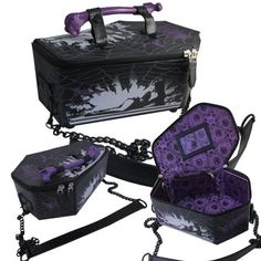 Elvira- Coffin Vinyl Bag by Kreepsville 666