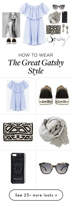 """My lovely spring dress"" by dantevandenabeele on Polyvore featuring Fendi, Chanel, Converse, Brunello Cucinelli and Zadig & Voltaire"