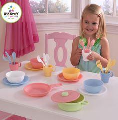 Kid Kraft 27 Piece Cookware Play set - Pastel - 63027