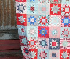 Patriotic. Cluck Cluck Sew. I love the old school aspect, but I would do a stipple or something over it bc I like the crinkly look.