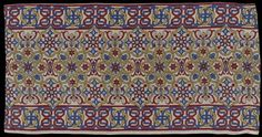 Cotton panel ( English, 1855–75 ).Design attributed to Owen...