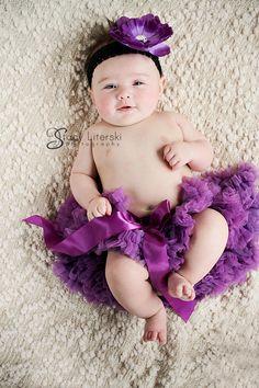 4 month photo idea, baby girl, tutu, Stacy Literski Photography