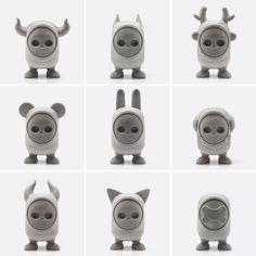 toys de monstruos con caras intercambiables
