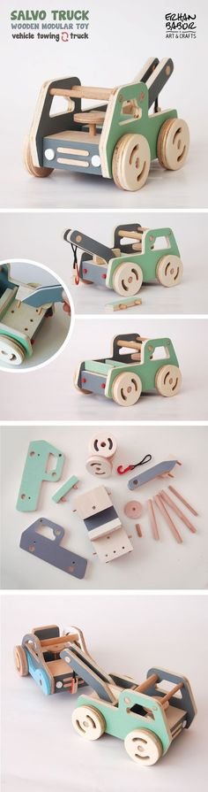 Salvo Truck Wooden modular toy
