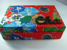 Caixa de Chá Chita Flores 3   www.munayartes.com