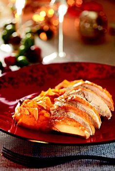 La dinde rôtie et purée de patates douces tandoori