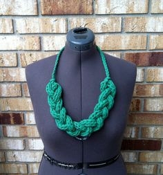 T shirt braided necklace