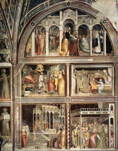 Giovanni da Milano	 - Scenes from the Life of Magdalene	 - Rinuccini Chapel, Santa Croce, Florence, Italy