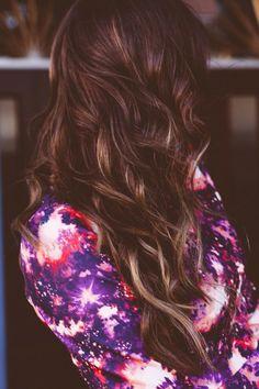 Brown hair. Blonde highlights. Gorgeouss