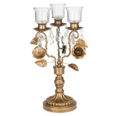 & Collection& 3 Light Candelabra Centerpiece Taper Candle Holder with Removable Tea Light Glass Votive (Gold) Gold Candelabra, Candelabra Centerpiece, Tall Wedding Centerpieces, Centerpiece Ideas, Gold Candle Holders, Candlestick Holders, Candlesticks, Candleholders, Glass Votive