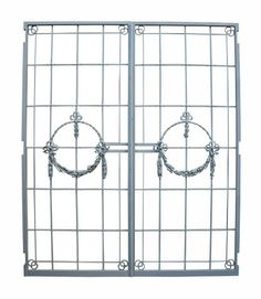 PAIR OF C. 1900 WROUGHT IRON GATES / DOORS - UK Architectural Heritage