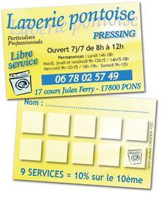 Creation Graphique Dune Carte De Fidelite Pour La Laverie Pontoise