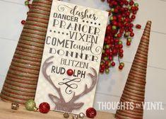 Reindeer Bunch / wooden Christmas sign / order here