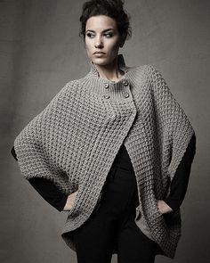 Grey  sweater Cape.
