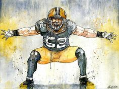 Clay Matthews - Greenbay Packers by Michael Pattison #packers #claymatthews